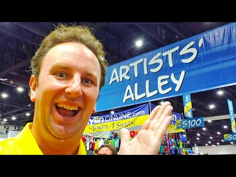 San Diego Comic Con 2019 Artists Alley & Small Vendors LIVE