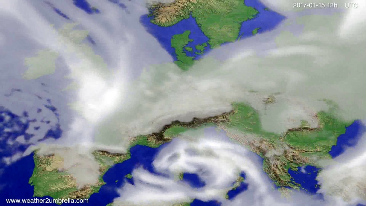 Cloud forecast Europe 2017-01-12