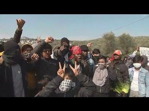 Επεισόδια μεταξύ προσφύγων, μεταναστών και δυνάμεων της αστυνομίας, στο ΚΥΤ Μόριας στη Λέσβο