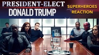 Video Superheroes react to Donald Trump's Victory - REACTION MASHUP MP3, 3GP, MP4, WEBM, AVI, FLV Desember 2017