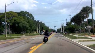 Crazy Guy On Scooter!