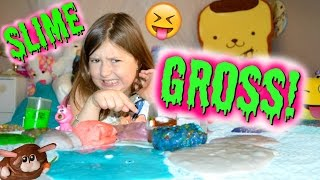 GROSS SLIME COLLECTION 😝    Sedona Fun Kids TV