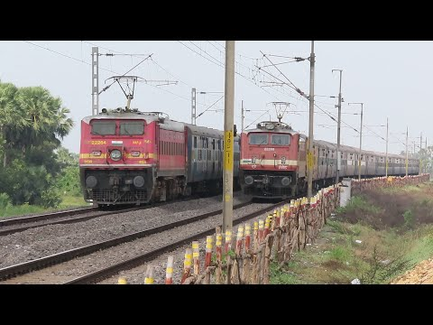 HIGH SPEED PERFECT CROSSING TRAINS   DIESEL TRAINS & ELECTRIC TRAINS   INDIAN RAILWAYS