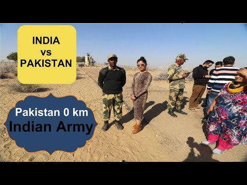 Pakistan-India border | Pakistan 0 KM | Tanot Mata Mandir | Longewala Battel Field