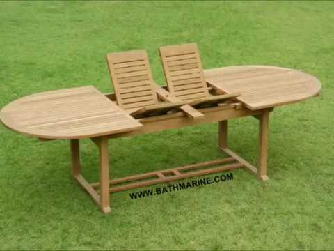 Bathmarine com muebles de teca mesas teka jardin tumbonas for Mesas jardin baratas