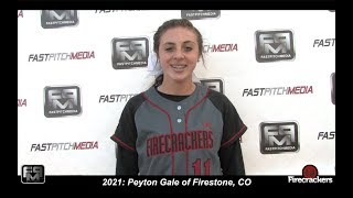 2021 Peyton Gale Third Base and Outfield Softball Skills Video