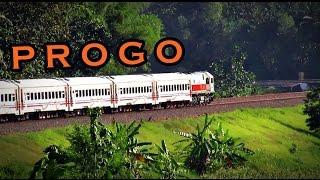 Kereta Api Progo melintas di Kalimenur