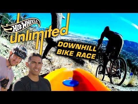 TEAM EDGE: HOT WHEELS VS. MOUNTAIN BIKES! WHO WILL WIN?   Hot Wheels Unlimited   Hot Wheels (видео)