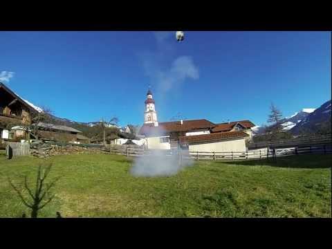 Man Launches Wheelbarrow With Giant Firecracker