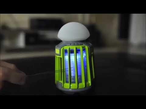 Video: Vábnička pro trvalou likvidaci komárů a přenosná lampa Jata MIB9V