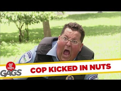 Cop Plays Football and Gets Kicked in the Nuts - Youtube