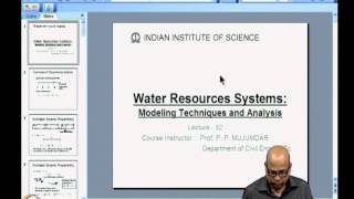 Mod-06 Lec-32 Stochastic Dynamic Programming For Reservoir Operation (2)