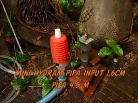 membuat pompa mini hydram pump water with air matriman pompa