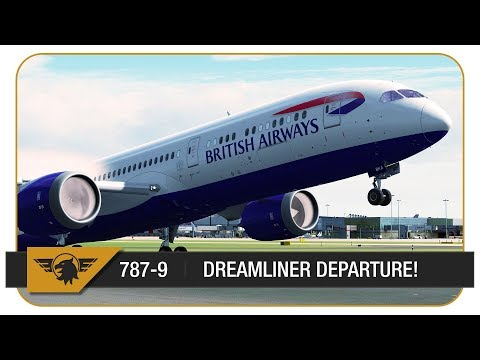 [P3D V4 60FPS] BRITISH AIRWAYS 787-9 DREAMLINER HEATHROW DEPARTURE! | Heathrow - Baltimore
