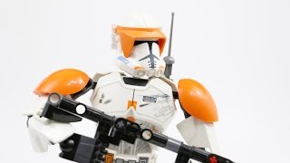 LEGO Star Wars Commander Cody (Timelapse & Review) - Set 75108