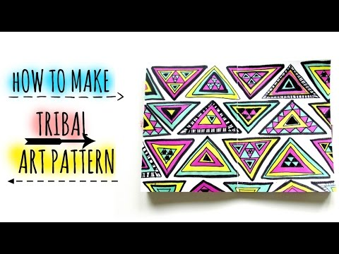 learn how to draw tribal patterns step by step and then you can invent