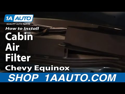 How To Install / Replace Cabin Air Filter 05-09 Chevy Equinox 1AAuto.com