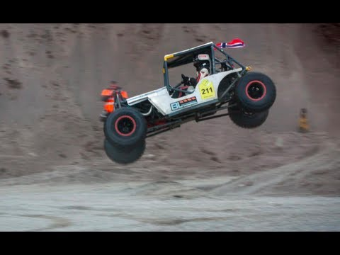 Roger Fossen survives crash during Formula Offroad in Balsta, Sweeden 2013