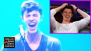 Video Shawn Mendes Reacts to His Voice Cracks #LateLateShawn MP3, 3GP, MP4, WEBM, AVI, FLV Juni 2018