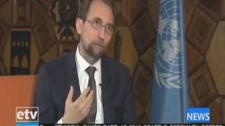 UN High Commissioner for Human Rights, Zeid Ra'ad Al Hussein, speaks to etv :