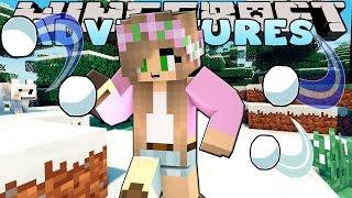 Minecraft-Little Kelly- GIGANTIC SNOWBALL FIGHT!