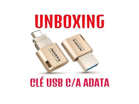 Unboxing Clé USB A-Data - USB C et USB A