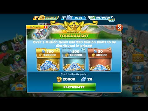 Cooking Fever Bakery TOURNAMENT 20190203