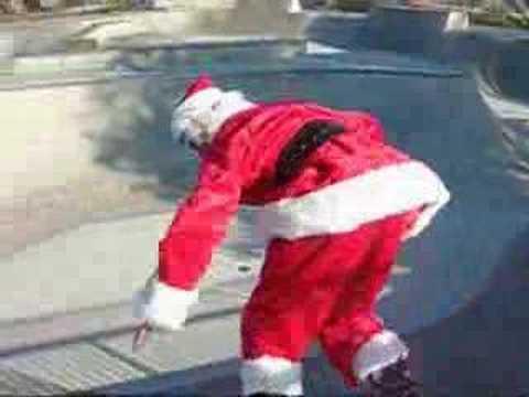 Santa Claus At Poway Skate Park