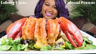 SEAFOOD BOIL MUKBANG , COLOSSAL PRAWNS , LOBSTER CLAWS , BLOVES SAUCE