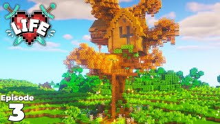 X Life : Ep 3 : FOUR HEART CLUB HOUSE : Minecraft Survival Let's Play