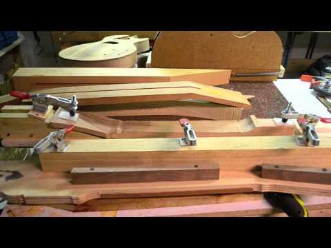 Inside the Luthier's Shop: Making Les Paul or Gibson Guitar necks jigs custom