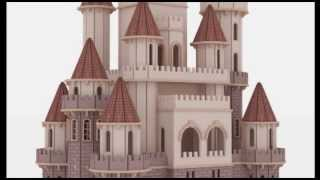 Fantasy Castle Doll House Laser cutting plans CNC router Scroll saw pattern