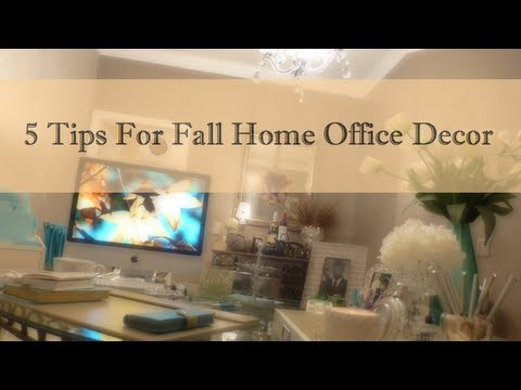 5 Tips For Fall Home Office Decor
