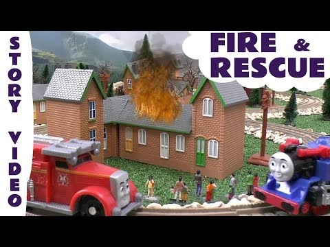 Thomas & Friends Story Episode FIRE and RESCUE Flynn Belle Harold Flies Trackmaster Kids Toy Story