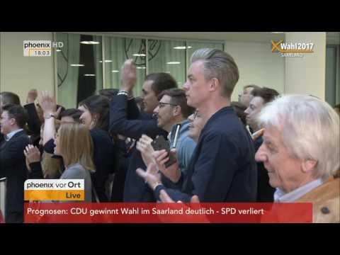 LTW Saarland: Nach 18 Uhr - Stimmungen von den Wahlpartys von CDU und SPD am 26.03.2017