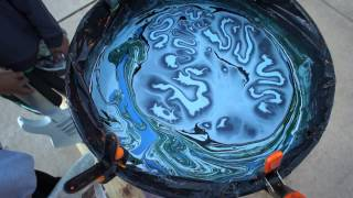 Swirl Painting A Jackson Guitar With Borax Method And Humbrols PART 1