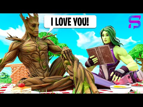 GROOT LEARNS HOW TO TALK.... ( Fortnite Short )