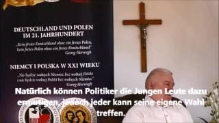 """Lech Walesa, Schirmherr des Projekts """"Deutschland und Polen im 21. im 21. Jahrhundert"""""""