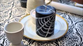 DIY: candle with web net - YouTube