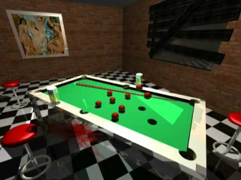 Animacja w POV-Rayu snooker table