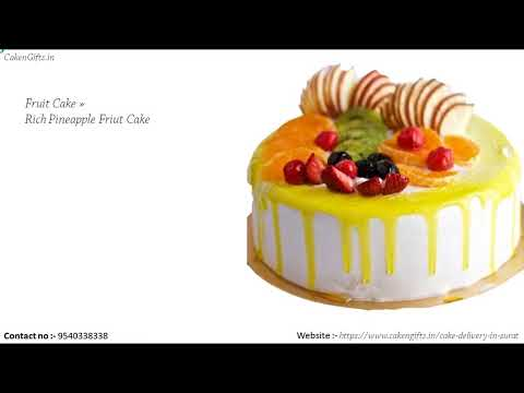 What to do to order fruit cake in Surat online in the same day?