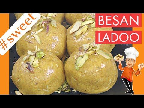 Besan Ladoo - By VahChef @ VahRehVah.com