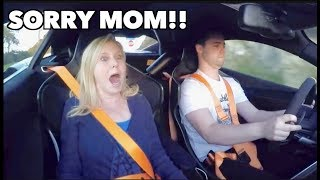 MOM REACTS TO MCLAREN LAUNCH CONTROL!! by Vehicle Virgins