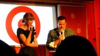 Taylor talking about 'The Moment I Knew' @ Target's Exclusive Red Release Party!