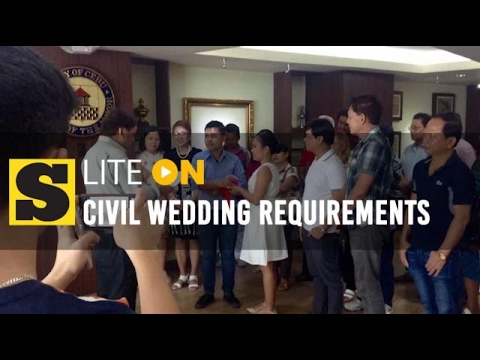 Civil wedding requirements