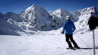 Sciare nella regione dell'Ortles