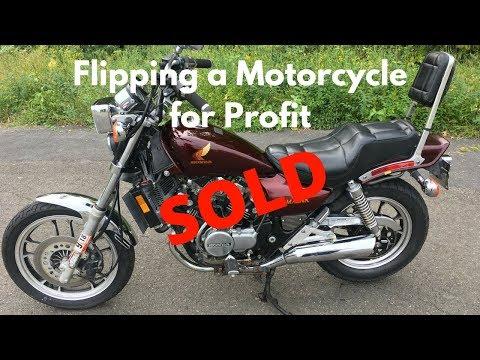 Honda Magna V30 Flip - Carbs, Clean & SOLD (видео)