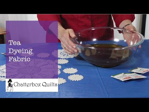 Tea Dyeing Fabric and Vintage Linens