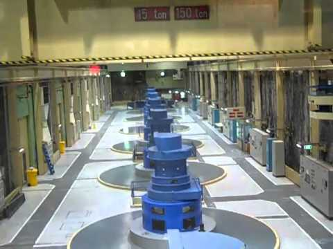 Inside the Manapouri Power Station (underground hydroelectric power station)