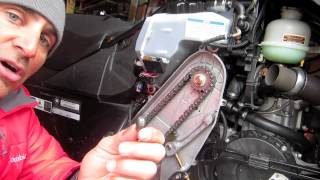 4. Sled Shot - Ski-Doo Summit XM Changing Chain Case Oil